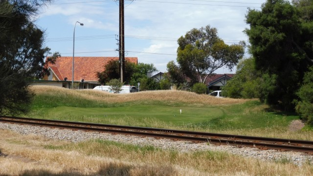 The Championship tee at the 2nd hole of Royal Adelaide Golf Club