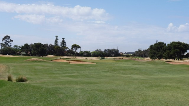 The 4th fairway at Royal Adelaide Golf Club