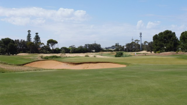 The 4th green at Royal Adelaide Golf Club