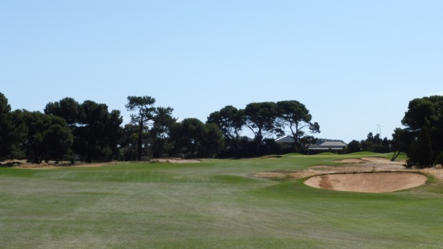 The 9th fairway at Royal Adelaide Golf Club