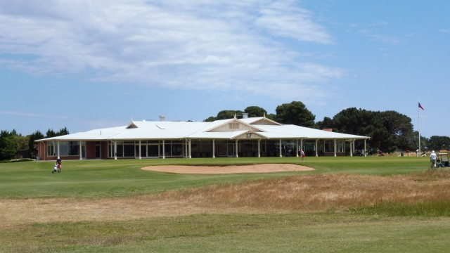 The clubhouse at Royal Adelaide Golf Club