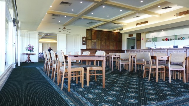 Inside the clubhouse at Royal Adelaide Golf Club