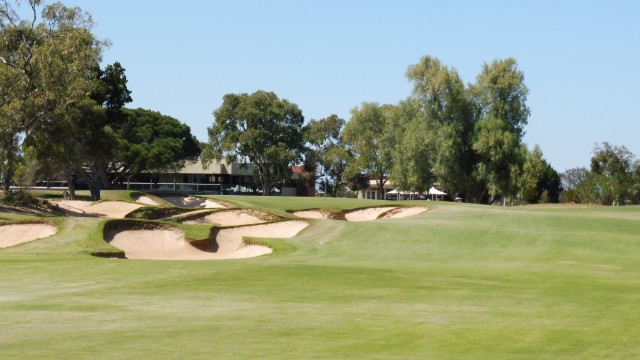 The 18th fairway at The Grange Golf Club East
