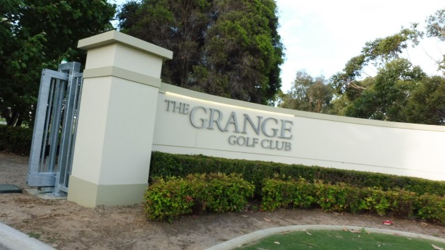 Entrance to The Grange Golf Club