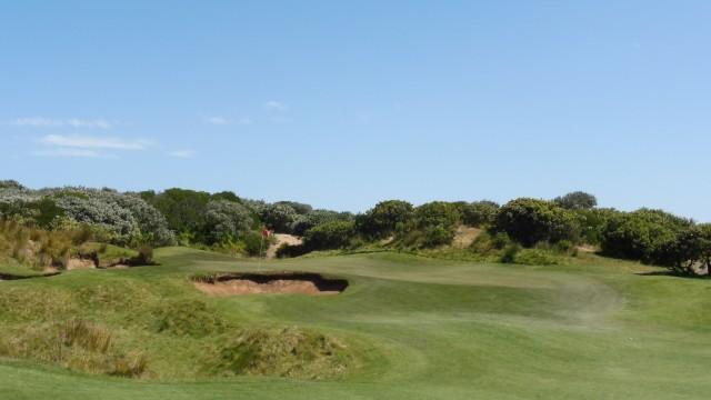 The 12th green at Thirteenth Beach Golf Links Beach Course