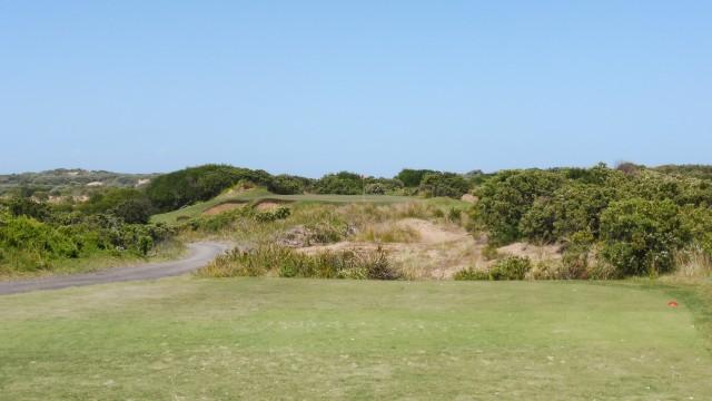 The 16th tee at Thirteenth Beach Golf Links Beach Course
