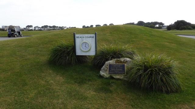 Clock for Thirteenth Beach Golf Links Beach Course