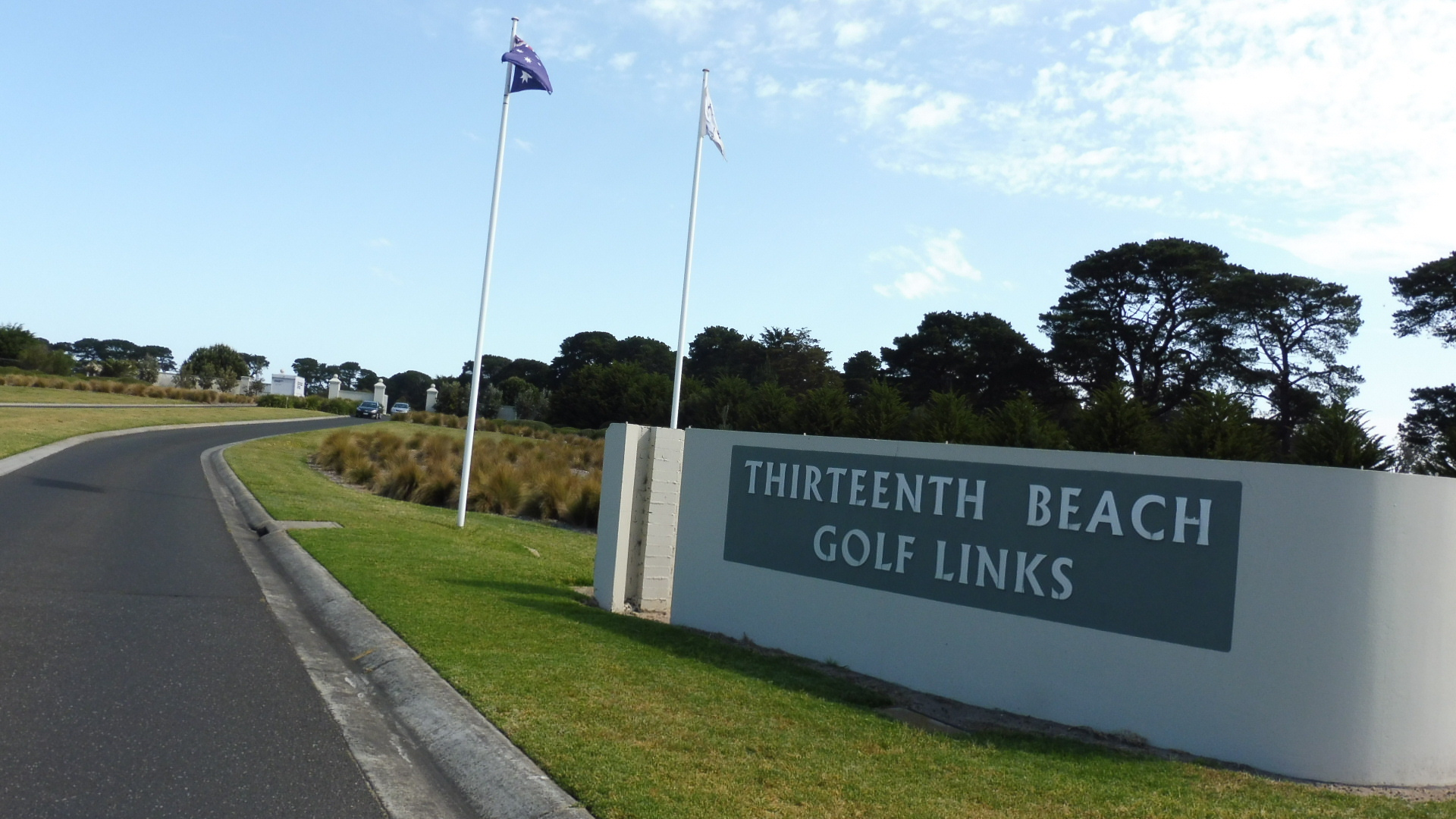 The Entrance To Thirteenth Beach Golf Links