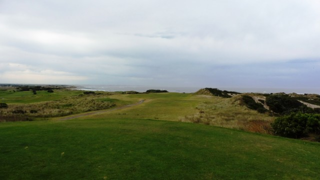 The 14th tee at Port Fairy Golf Links