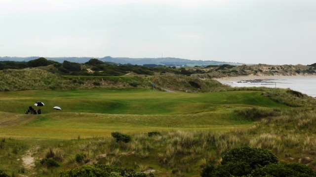 The 15th tee at Port Fairy Golf Links