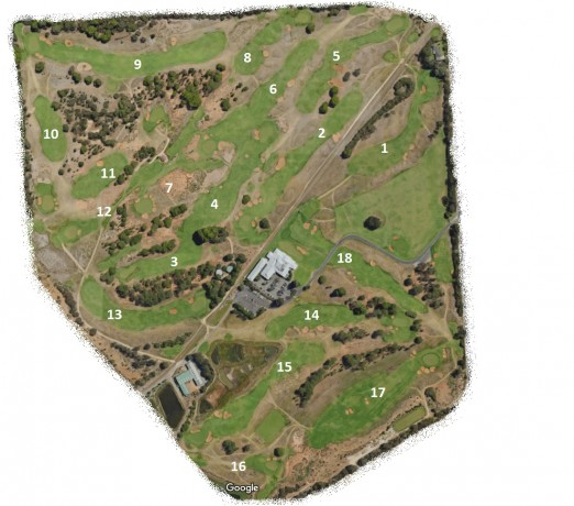 Map of Royal Adelaide Golf Course