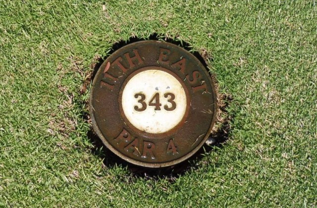 Tee marker on The Grange Golf Club East Course