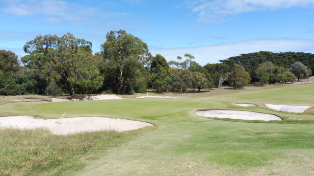 The 13th green at Victoria Golf Club