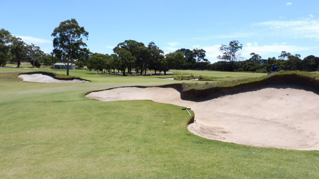 The 18th green at Victoria Golf Club