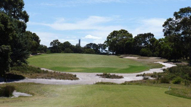 The 18th tee at Victoria Golf Club