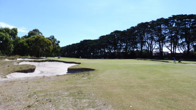 The 2nd green at Victoria Golf Club