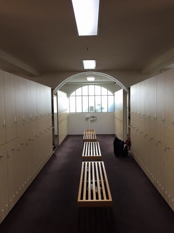 Locker room at Victoria Golf Club