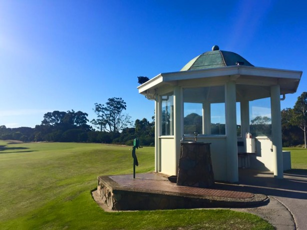 The starters hut at Victoria Golf Club