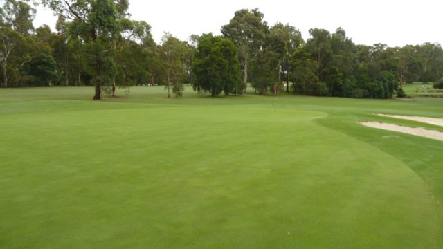 The 2nd green at Avondale Golf Club