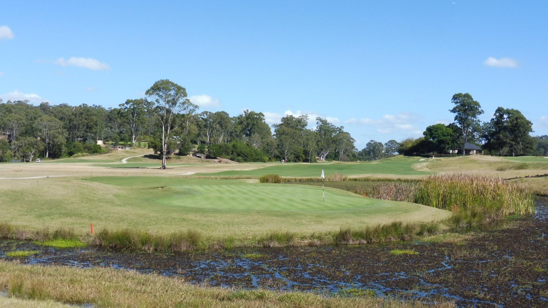 The 4th green at Riverside Oaks Golf Resort Bungool Course