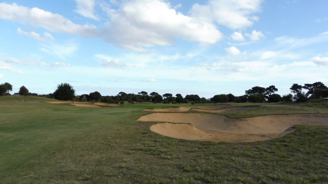 The 17th fairway at Thirteenth Beach Golf Links Creek Course