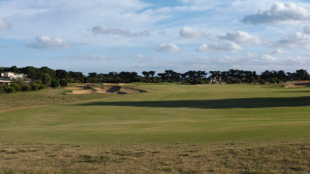 The 18th fairway at Thirteenth Beach Golf Links Creek Course