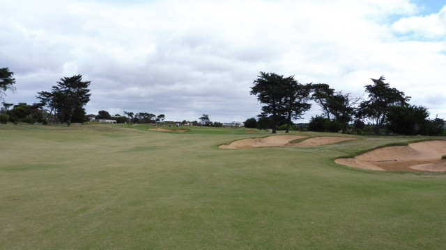 The 1st fairway at Thirteenth Beach Golf Links Creek Course