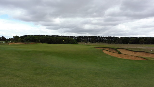 The 2nd green at Thirteenth Beach Golf Links Creek Course