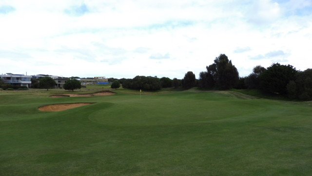 The 3rd green at Thirteenth Beach Golf Links Creek Course