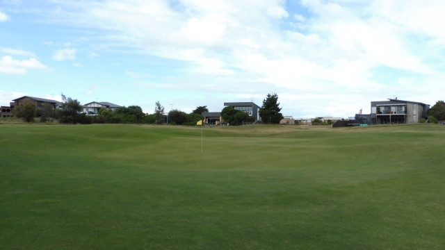 The 5th green at Thirteenth Beach Golf Links Creek Course