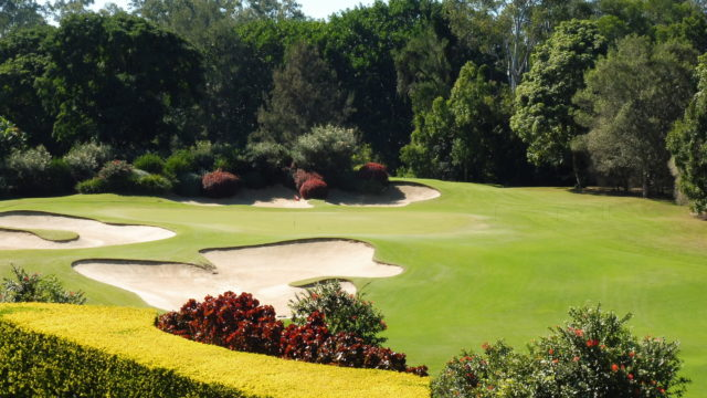 The 19th hole at The Grand Golf Club