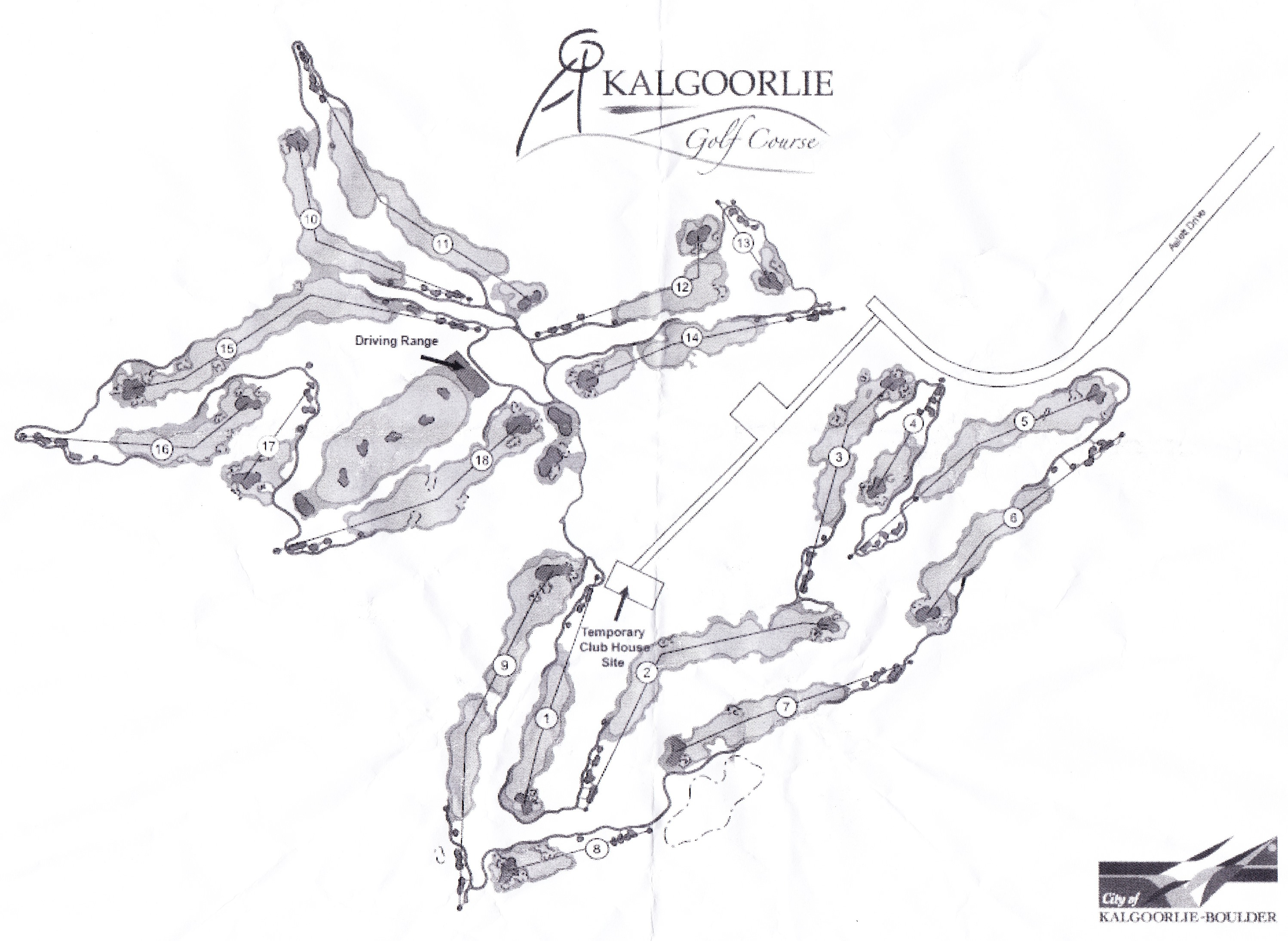 Kalgoorlie Golf Club Map Aussie Golf QuestAussie Golf Quest