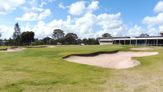 The 9th green at Horsham Golf Club