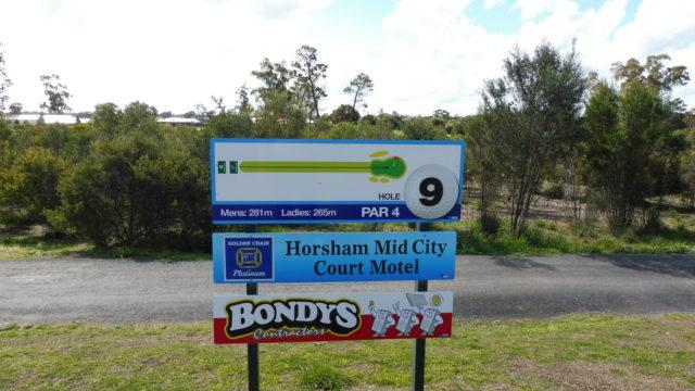 Hole marker at Horsham Golf Club
