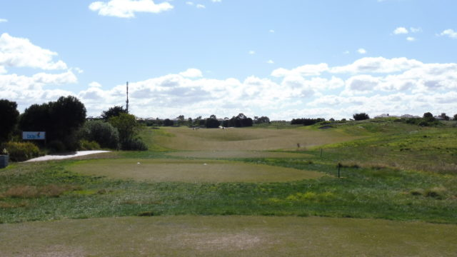 The 10th tee at Sanctuary Lakes Golf Club