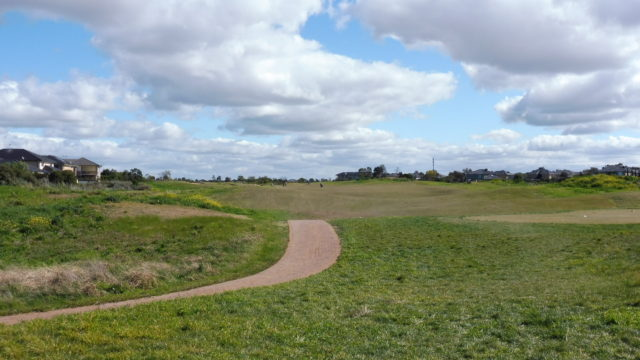 The 13th tee at Sanctuary Lakes Golf Club