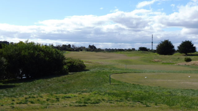 The 1st tee at Sanctuary Lakes Golf Club