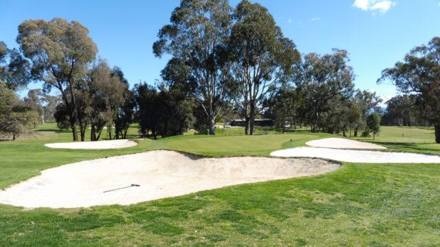 The 16th green at Federal Golf Club