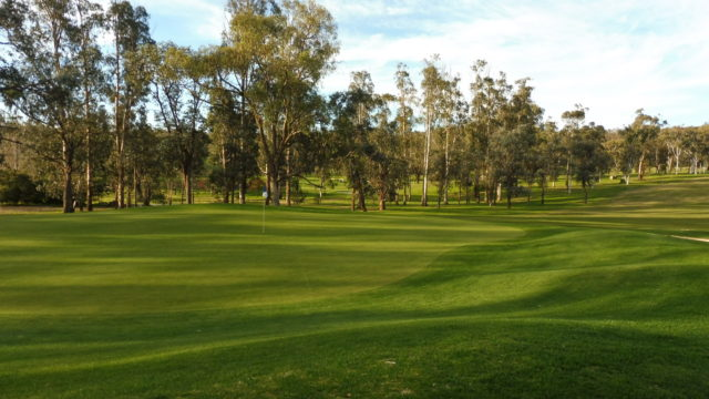The 1st green at Federal Golf Club