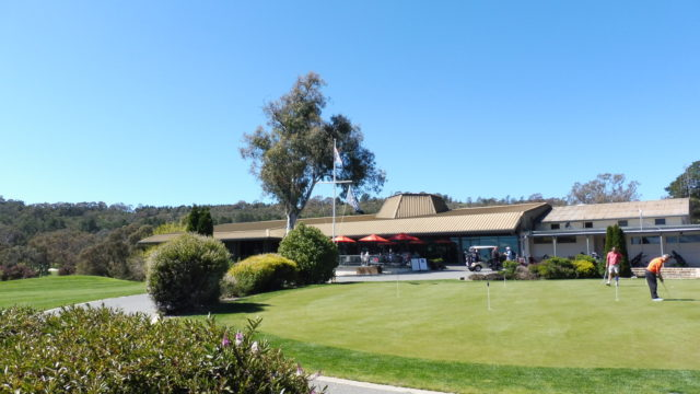 The clubhouse at Federal Golf Club