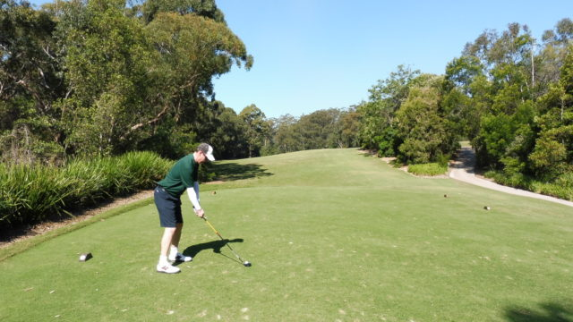Chris on the 10th tee at Avondale Golf Club