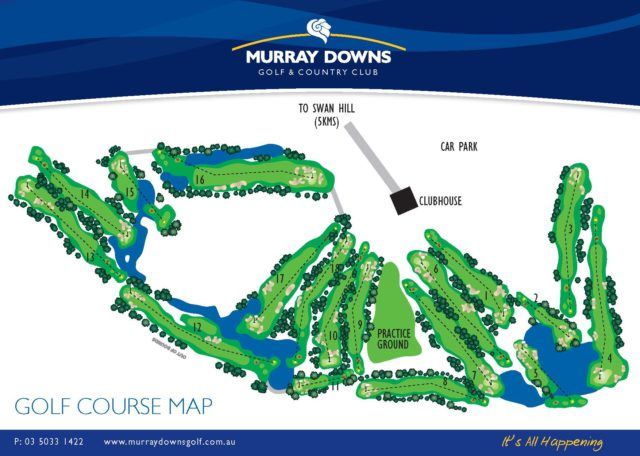 Map of Murray Downs Golf & Country Club