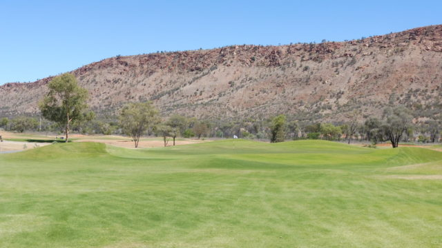 The 10th green at Alice Springs Golf Club