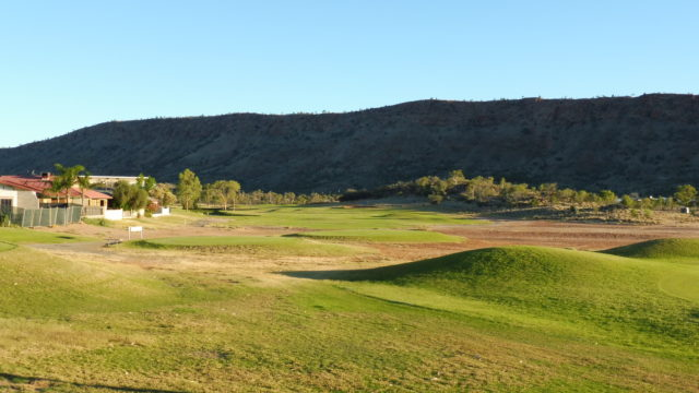 The 10th tee at Alice Springs Golf Club