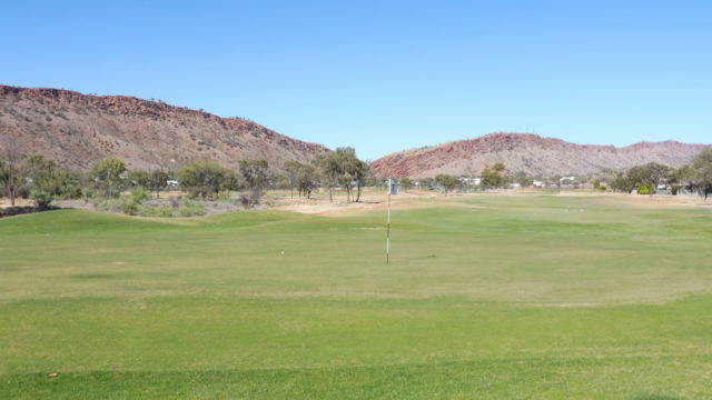 The 11th green at Alice Springs Golf Club