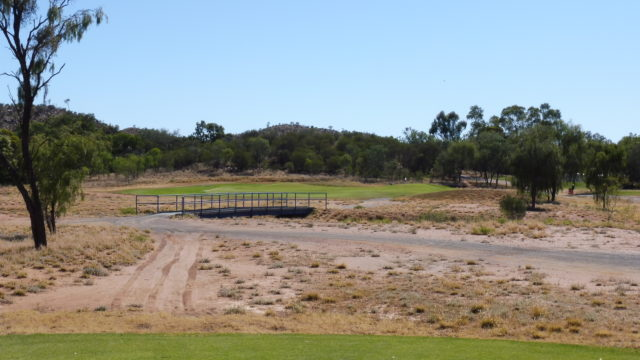 The 12th tee at Alice Springs Golf Club