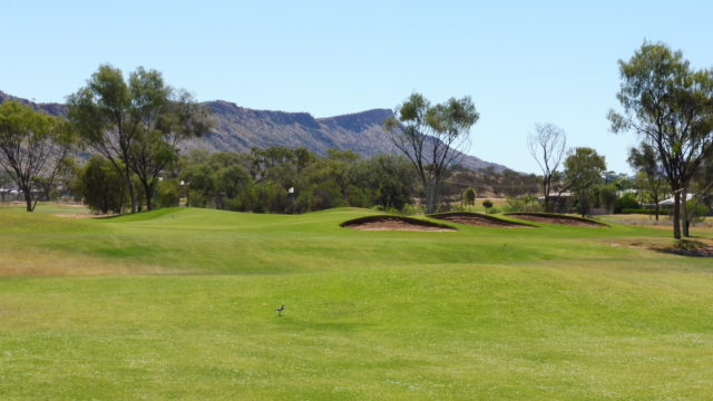 The 13th fairway at Alice Springs Golf Club