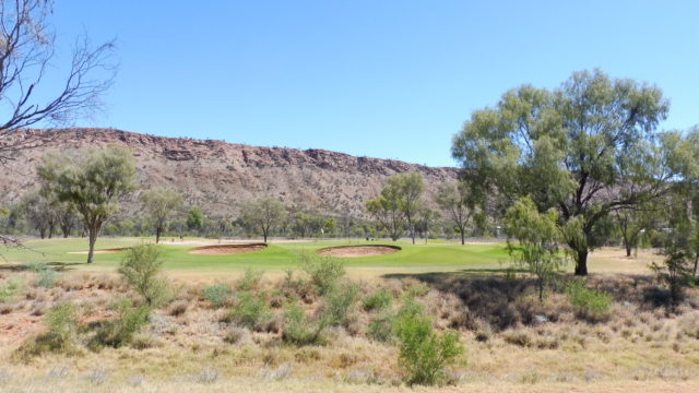 The 13th green at Alice Springs Golf Club