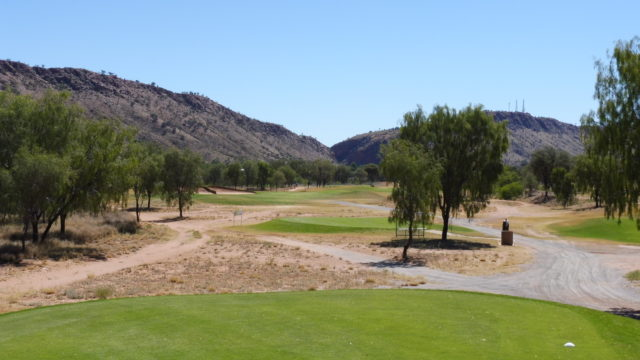 The 13th tee at Alice Springs Golf Club