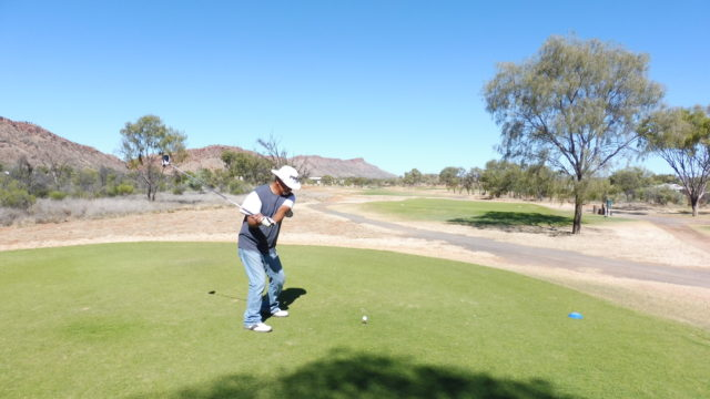 The 14th Tee at Alice Springs Golf Club
